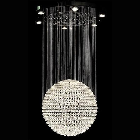 Chandeliers Ball Chandelier Swarovski Crystal Ball Chandelier Intended For Crystal Ball Chandeliers Lighting Fixtures (Image 4 of 25)