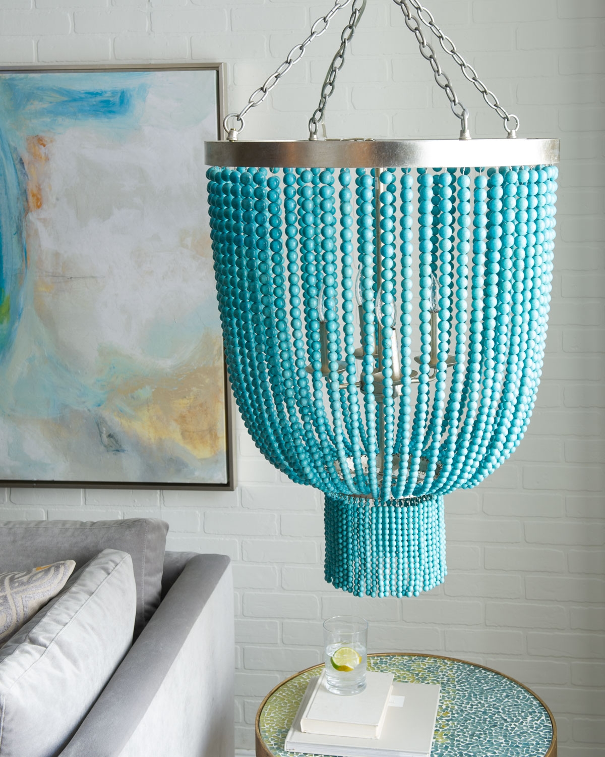 Chandeliers Everything Turquoise For Small Turquoise Beaded Chandeliers (Image 13 of 25)