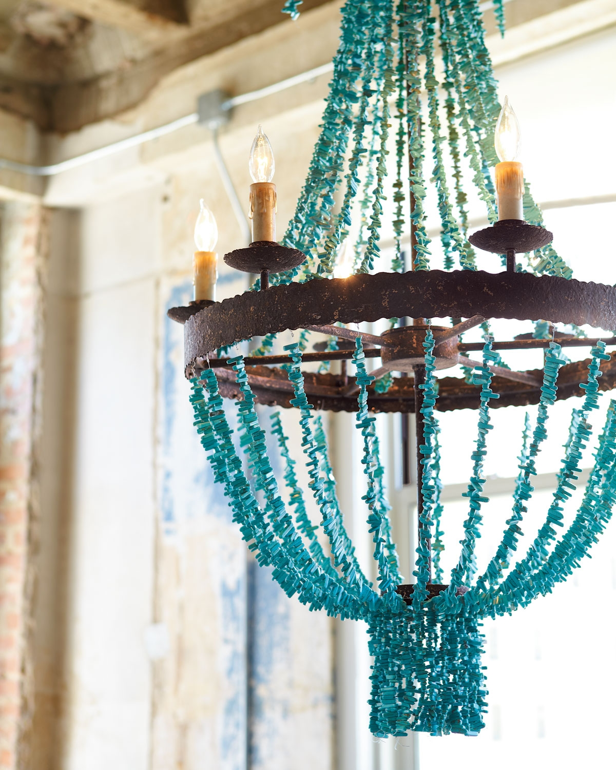 Chandeliers Everything Turquoise For Turquoise Wood Bead Chandeliers (Image 11 of 25)