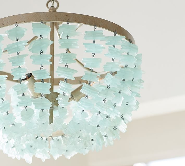 Chandeliers Everything Turquoise With Regard To Turquoise Beads SixLight Chandeliers (Image 13 of 25)