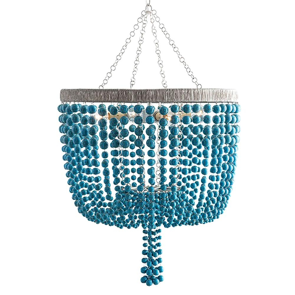 Featured Image of Turquoise Wood Bead Chandeliers