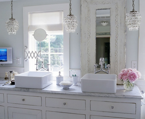 Chandeliers For Bathroom With Small Chandeliers For Bathrooms With Regard To Crystal Chandelier Bathroom Lighting (Image 20 of 25)