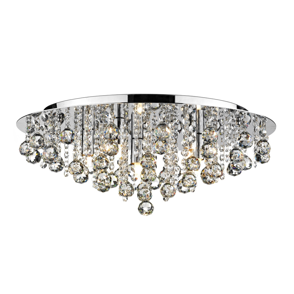 Chandeliers For Bedrooms Uk 6 Light Crystal Chandelier Salento Pertaining To Short Chandeliers (Image 11 of 25)
