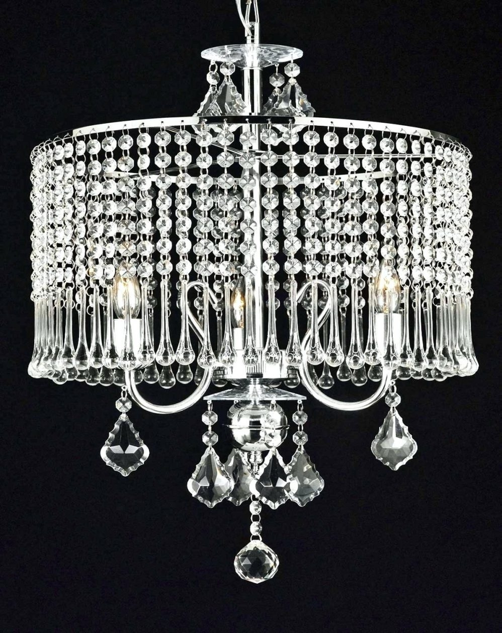 Chandeliers San Diego Diy Lotus Chandelier Pp Pendant Lampshade Throughout Lampshade Chandeliers (Image 8 of 25)