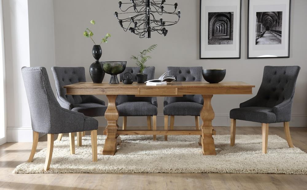 Charming Chunky Solid Oak Dining Table And 6 Chairs 52 For Dining Within Chunky Solid Oak Dining Tables And 6 Chairs (View 6 of 20)
