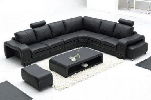 Charming Corner Leather Sofa Leather Sofas Corner Home Design And In Black Leather Corner Sofas (View 2 of 20)