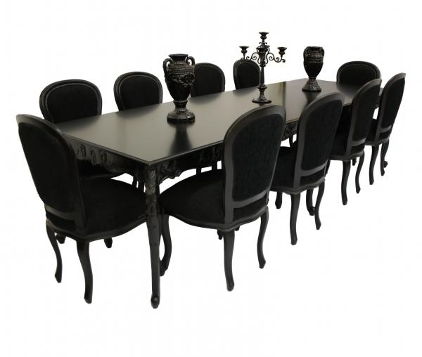 Charming Dining Table And 10 Chairs Person Marble Laminate Wood For 8 Seater Black Dining Tables (Image 11 of 20)