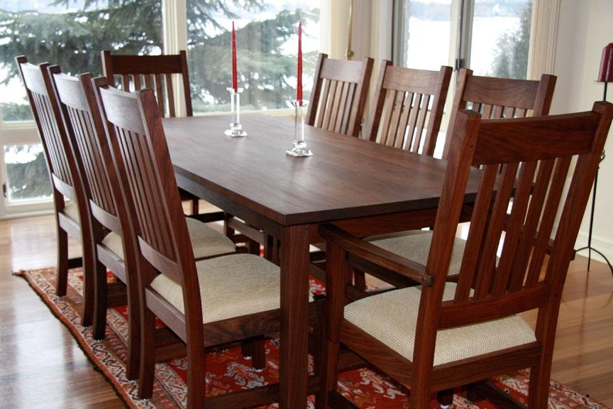 Charming Wooden Walnut Dining Chairs — Optimizing Home Decor Ideas Regarding Walnut Dining Tables And Chairs (Image 7 of 20)