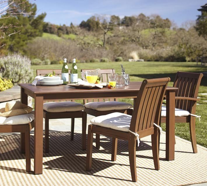 Chatham Rectangular Fixed Dining Table & Chair Set – Dark Honey Within Dining Table Chair Sets (Image 6 of 20)