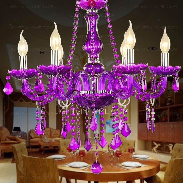 Cheap Crystal Chandeliers Crystal Chandeliers For Sale Within Purple Crystal Chandeliers (Image 10 of 25)