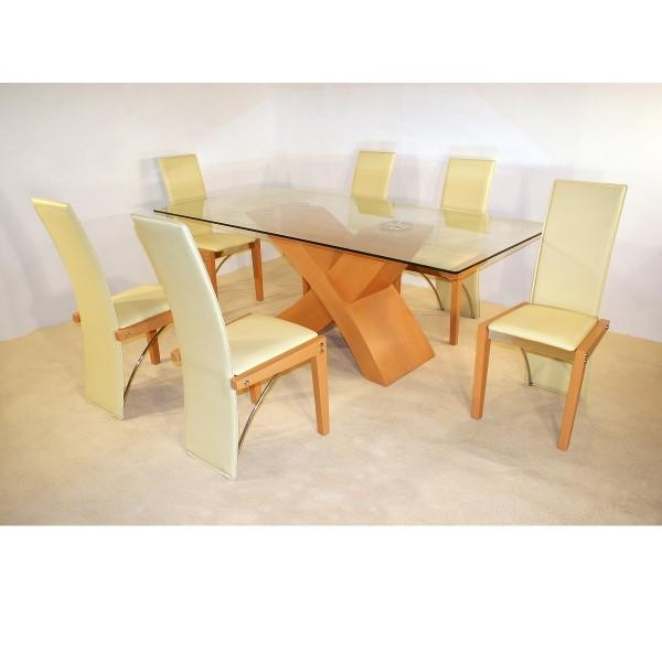 Cheap Glass Table And 6 Chairs Cheap Heartlands Shiro Glass Small Throughout Beech Dining Tables And Chairs (View 13 of 20)