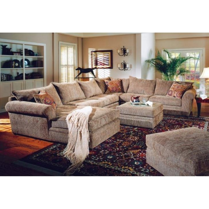 Cheap U Shaped Sectional Sofas Sublime Cotton Camel Back Dark Wood Inside Chenille Sectional Sofas With Chaise (Image 8 of 20)