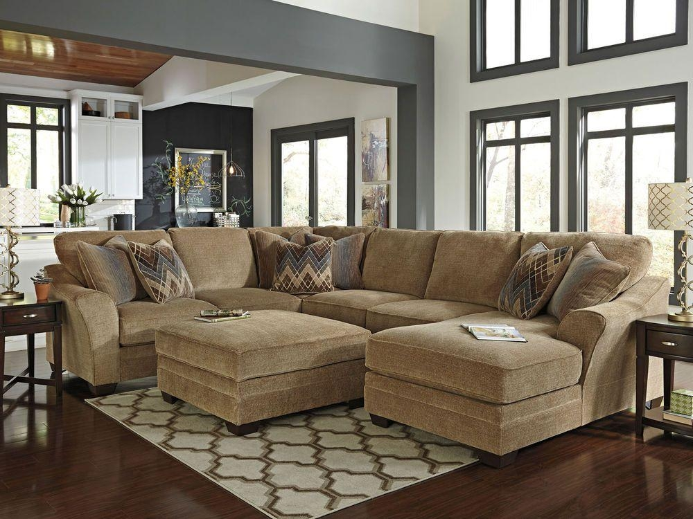 Chenille Sectional Sofa With Ottoman | Antique Settee Prices Pertaining To Chenille Sectional Sofas With Chaise (Image 10 of 20)