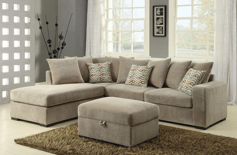 Chenille Sectional: Sofas, Loveseats & Chaises | Ebay Throughout Chenille Sectional Sofas With Chaise (Image 11 of 20)