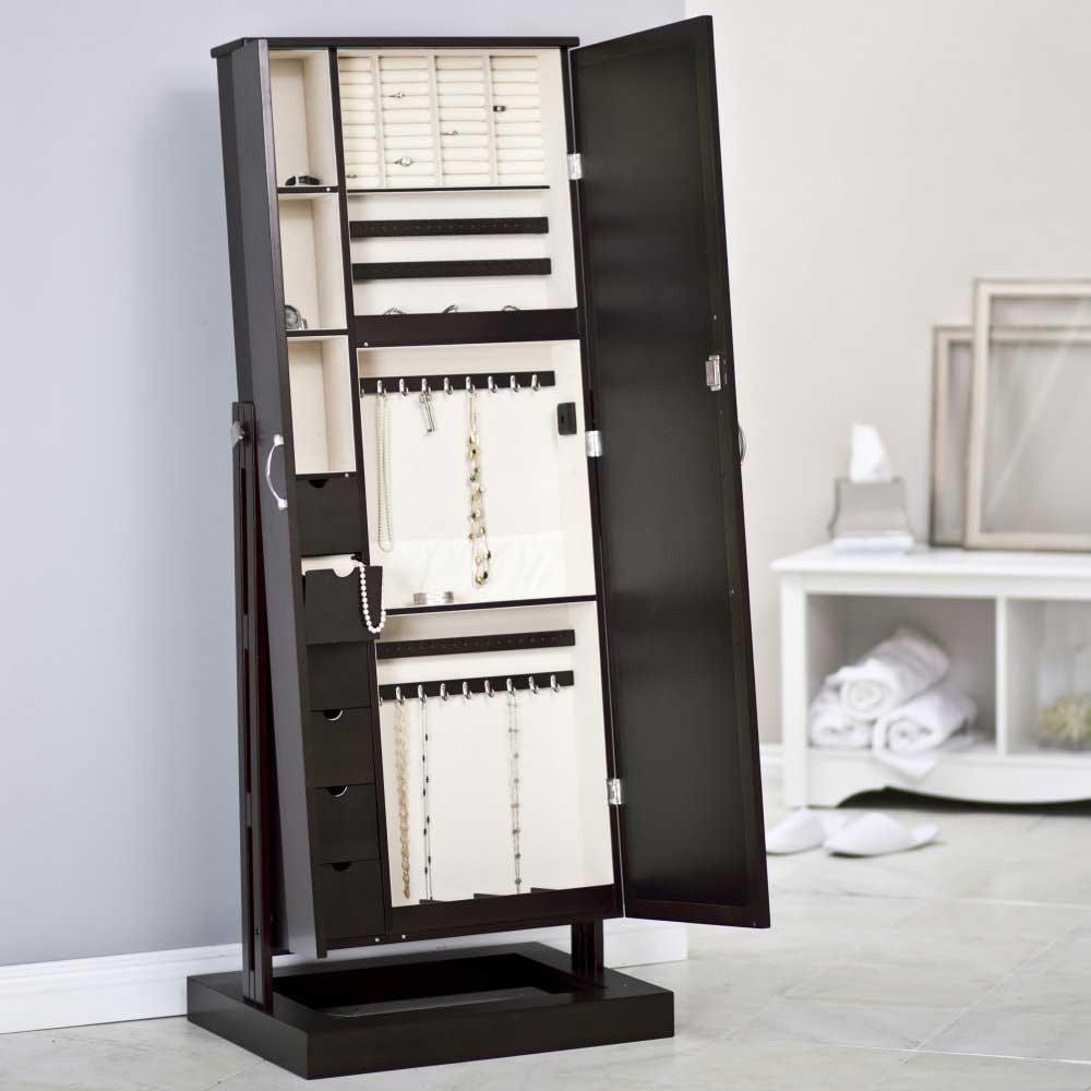 Cherry Modern Jewelry Armoire Cheval Mirror : Furniture Decor With Modern Cheval Mirror (Image 7 of 20)