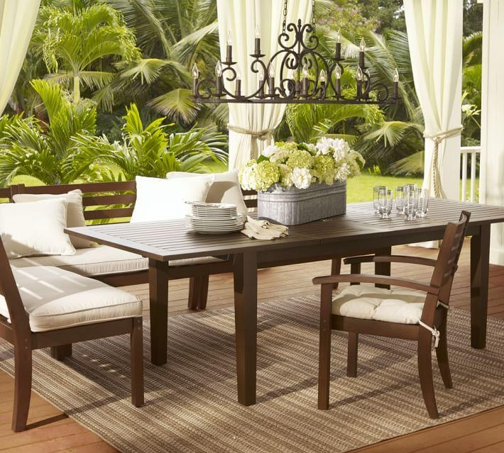 Chesapeake Rectangular Extending Dining Table | Pottery Barn For Extending Outdoor Dining Tables (Image 11 of 20)
