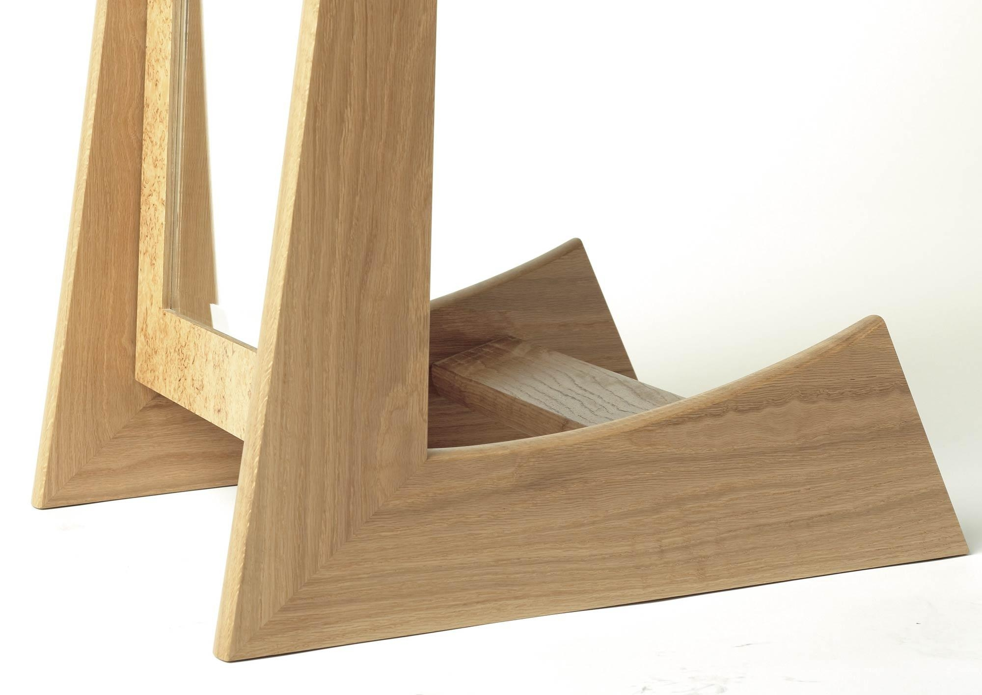 Cheval Mirror In Oak And Masur Birch | Makers' Eye With Free Standing Oak Mirror (Image 3 of 20)