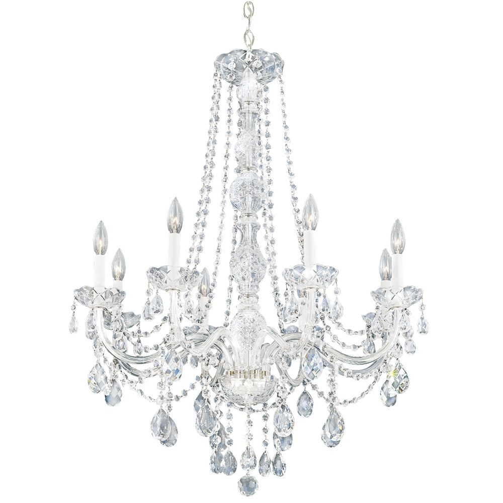 Chic Simple Crystal Chandelier Bedroom Ideas White Crystal Intended For White And Crystal Chandeliers (Image 12 of 25)