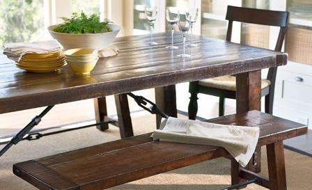 Chic Ways To Use A Picnic Table Indoors Intended For Indoor Picnic Style Dining Tables (View 6 of 20)