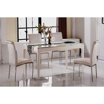 China Cheap Marble Top Dining Table Sets,6 Seater Dining Table Inside Cheap 6 Seater Dining Tables And Chairs (Image 8 of 20)