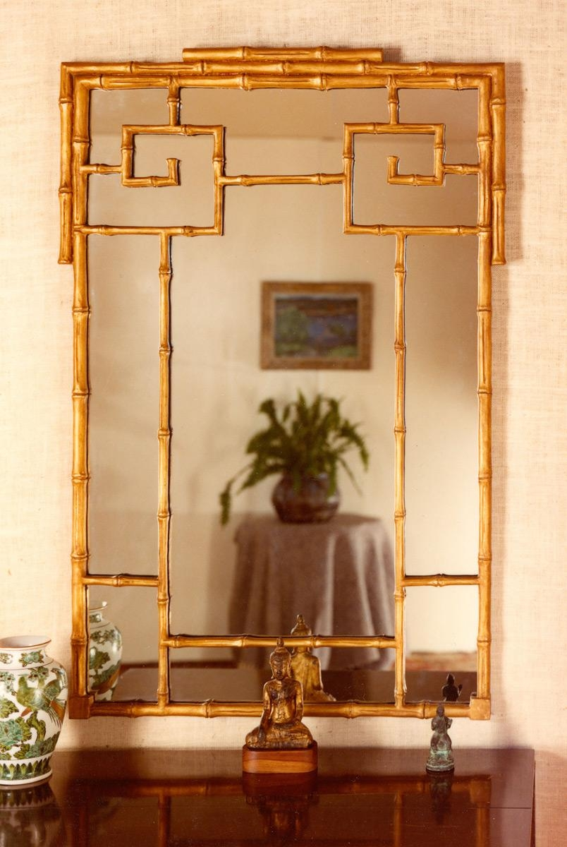 Chinese Bamboo Mirror | Carvers' Guild With Regard To Chinese Mirrors (View 3 of 20)