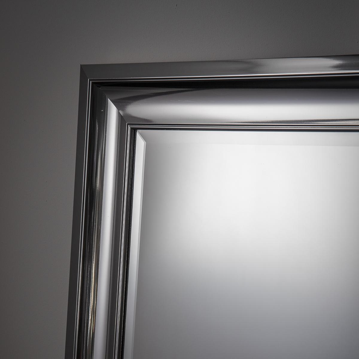 Chrome Effect Modern Rectangular Mirror 106 X 76Cm Chrome Effect With Chrome Mirrors (View 11 of 20)