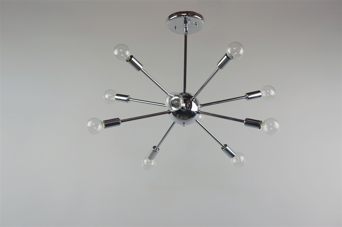 Chrome Sputnik Chandelier 20 In Diameter With 10 Arms Within Chrome Sputnik Chandeliers (Image 3 of 25)