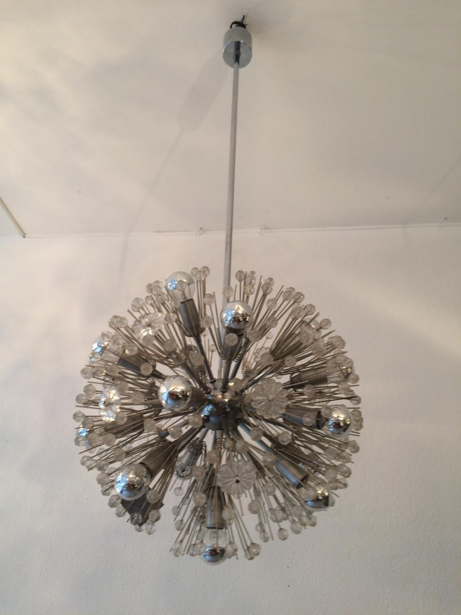 Chrome Sputnik Snowball Chandelier Emil Stejnar For Rupert Pertaining To Chrome Sputnik Chandeliers (Image 4 of 25)