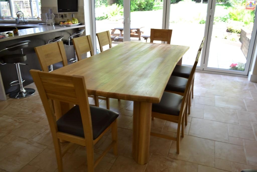 Chunky Solid Oak 8 Seater Dining Set With Regard To 8 Dining Tables (Image 15 of 20)
