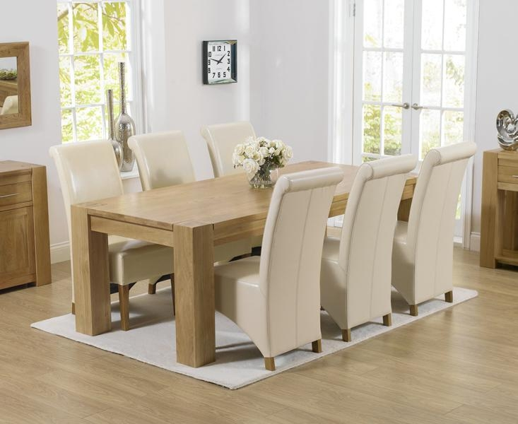 Chunky Solid Oak Dining Table And 6 Chairs #4217 Intended For Chunky Solid Oak Dining Tables And 6 Chairs (View 4 of 20)