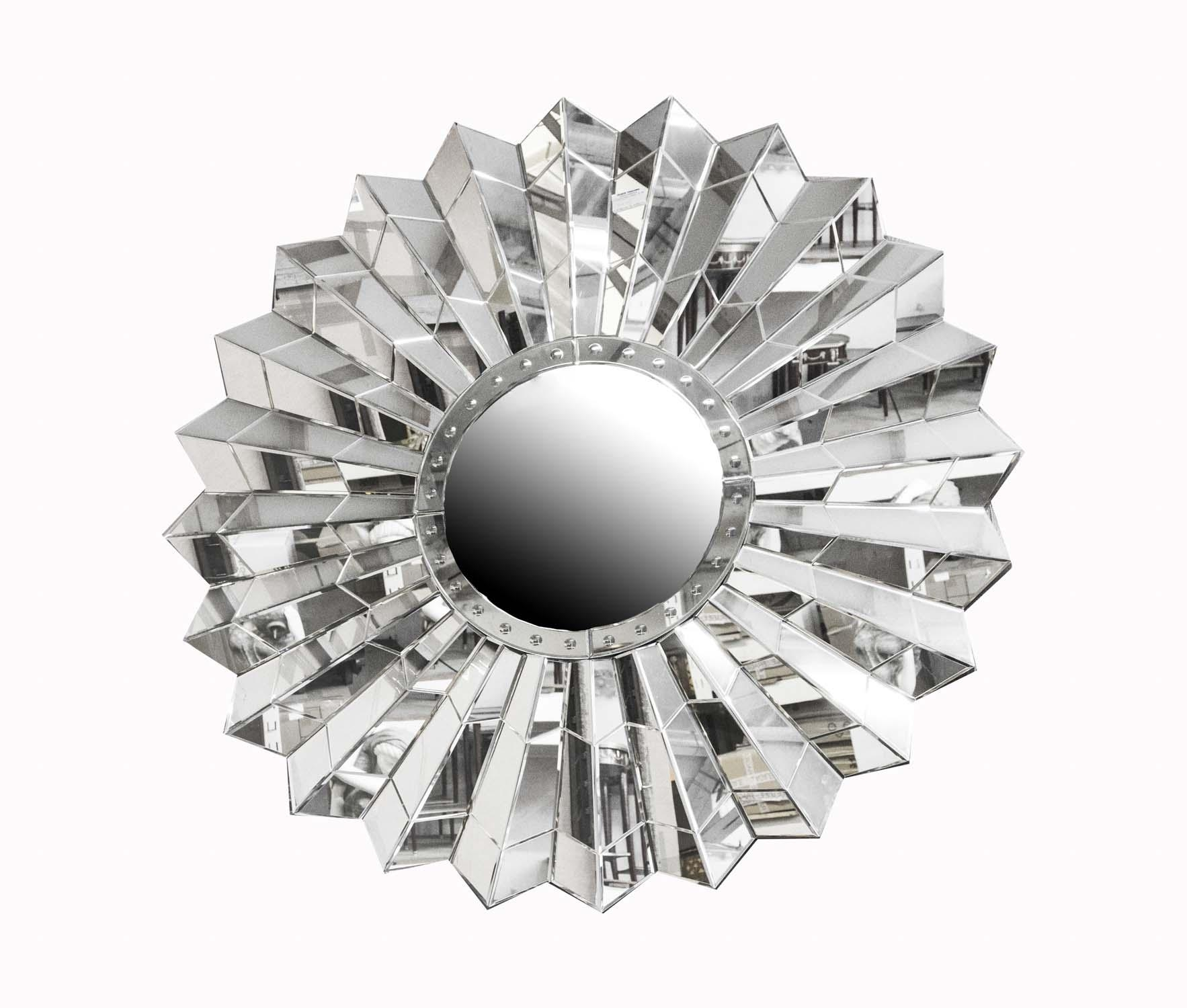 Circular Art Deco Style Sunburst Mirror 150 X 150 Cm Throughout Art Deco Style Mirrors (View 10 of 20)