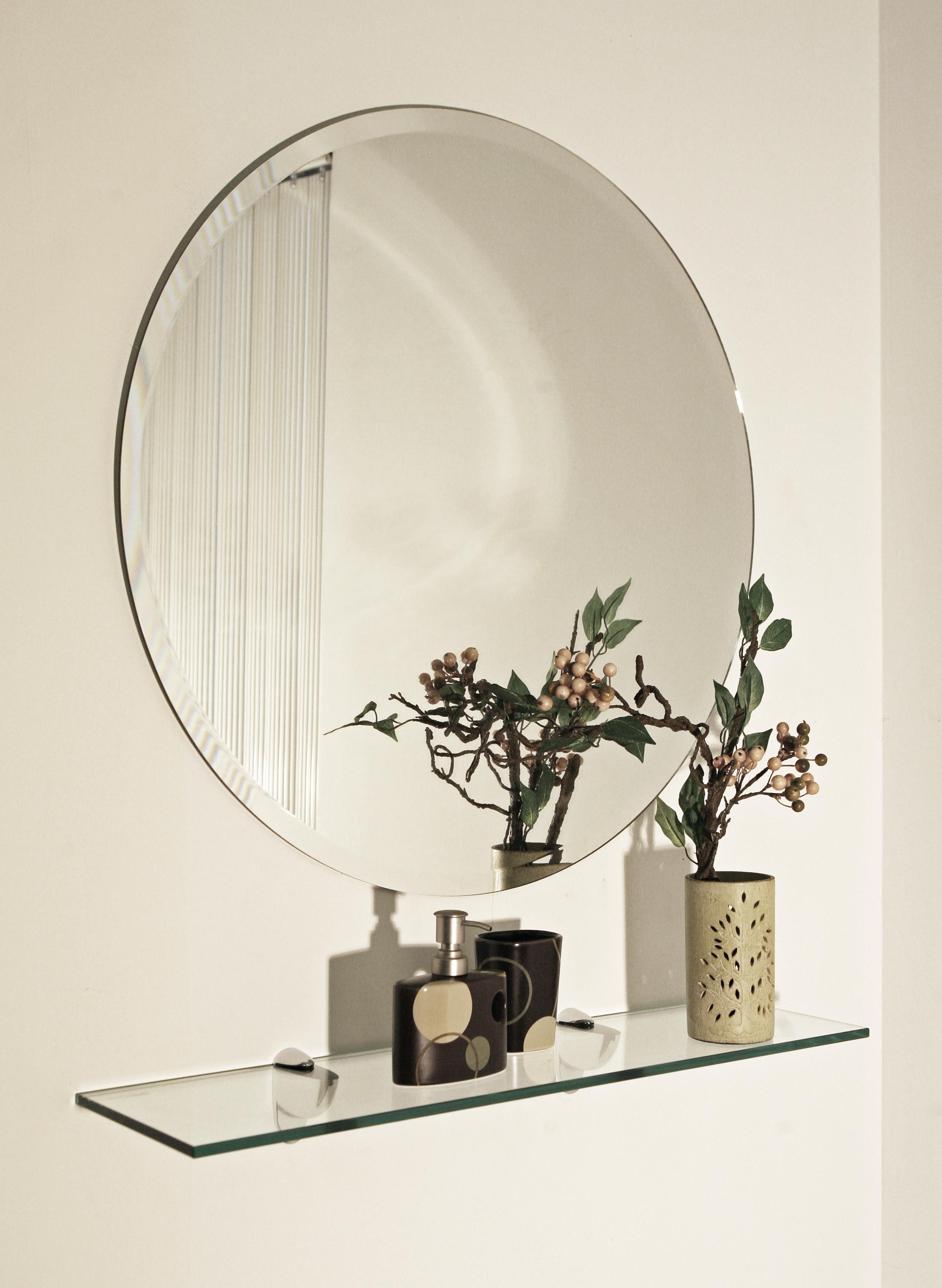 Circular Custom Cut Mirror Glass – Alltrade Glass With Regard To Round Bevelled Mirror (Image 3 of 20)
