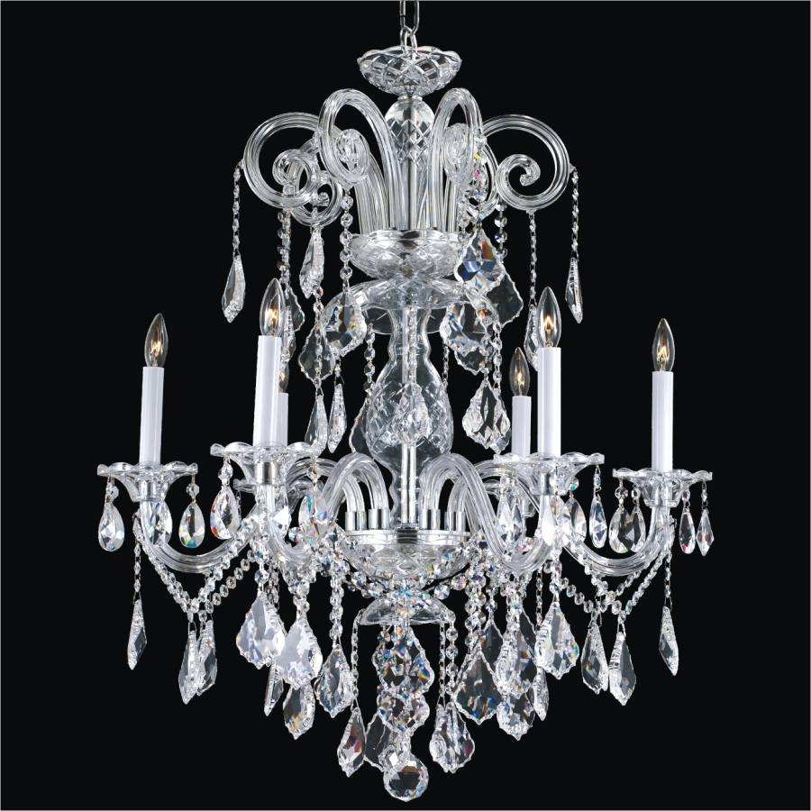 Classic Crystal Chandelier Dynasty 557 Glow Lighting Pertaining To Faux Crystal Chandeliers (View 8 of 25)