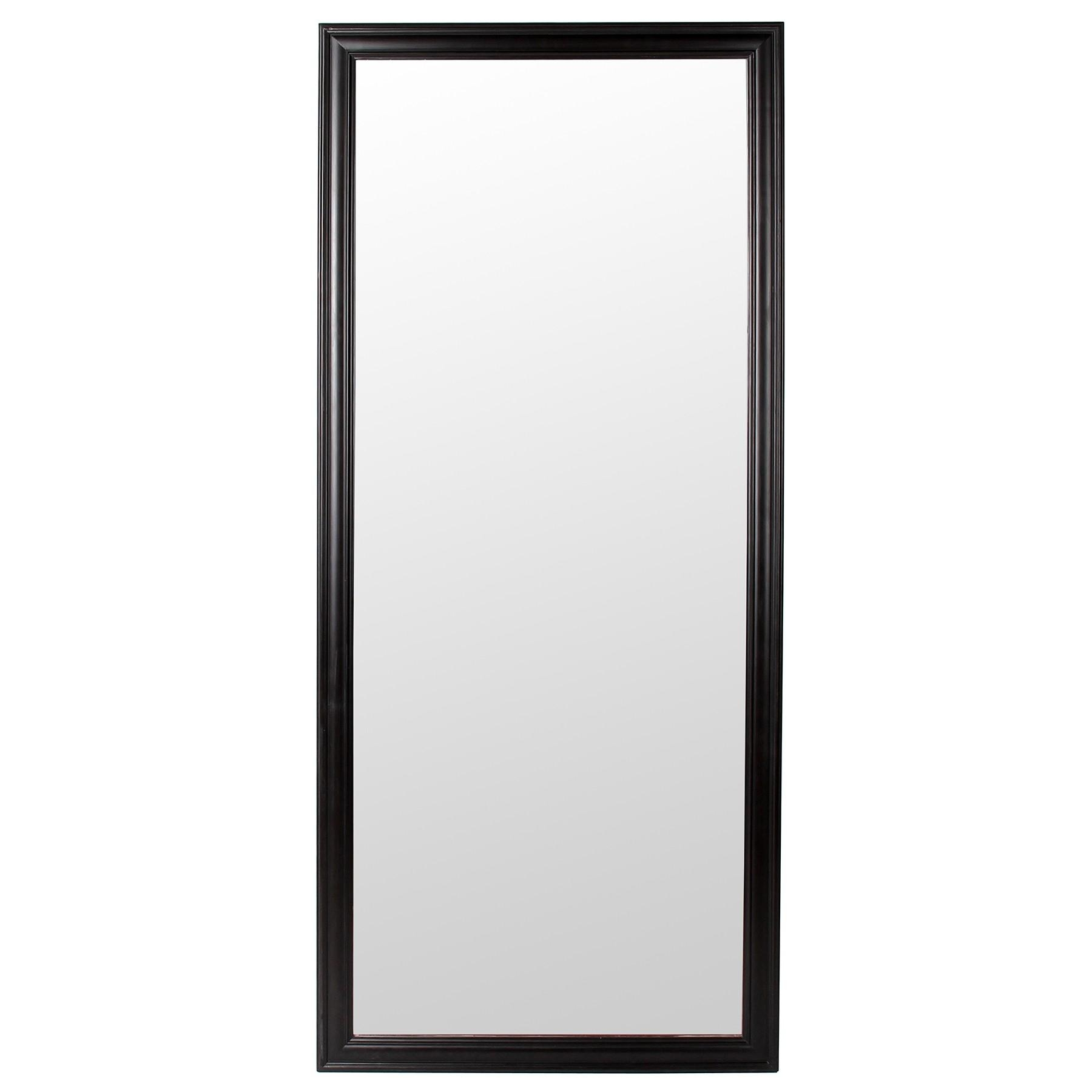 Classic Framed Mirror Large (Black) Inside Large Black Mirror (Image 6 of 20)