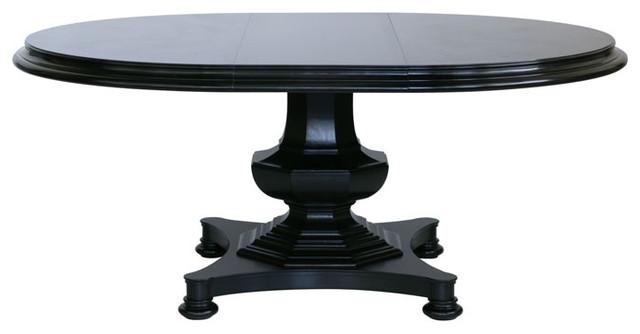 Classic Oak Roundoval Pedestal Dining Table With Laminate Top Intended For Dark Round Dining Tables (Photo 12 of 20)