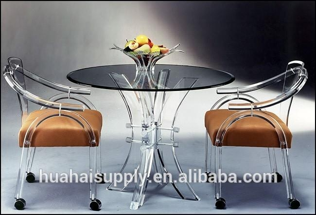 Clear Acrylic Dining Table Base, Clear Acrylic Dining Table Base Regarding Acrylic Round Dining Tables (Image 10 of 20)