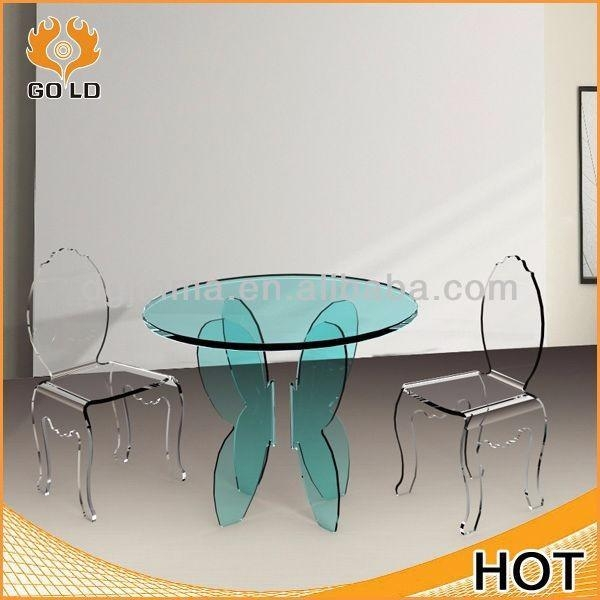 Clear Acrylic Round Dining Table, Clear Acrylic Round Dining Table With Acrylic Round Dining Tables (Image 11 of 20)