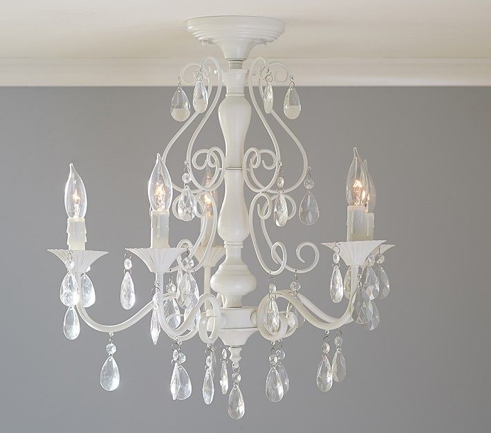 Clear Alyssa Flushmount Chandelier Pottery Barn Kids With Chandeliers For Kids (Image 13 of 25)