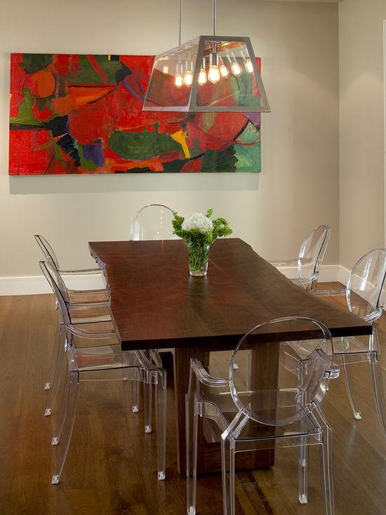 Clear Plastic Dining Chairs   Houzz With Clear Plastic Dining Tables (Image 10 of 20)