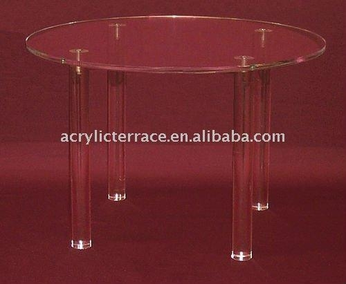 Clear Round Acrylic Dining Table – Buy Clear Round Acrylic Dining With Regard To Round Acrylic Dining Tables (Image 13 of 20)