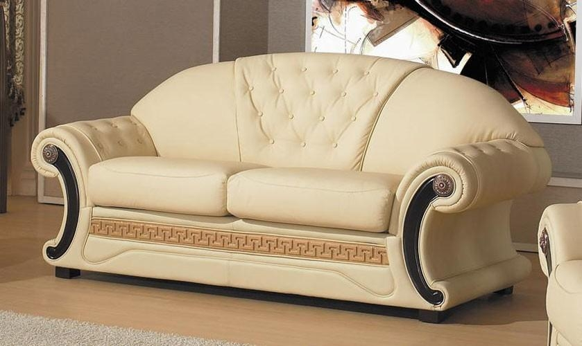 Cleopatra – Traditional Leather Sofa Set Pertaining To Cleopatra Sofas (View 3 of 20)