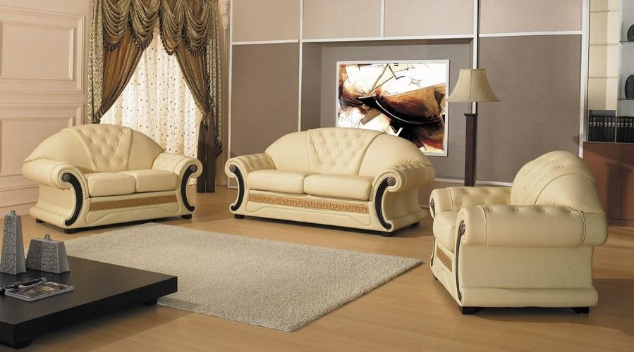 Cleopatra – Traditional Leather Sofa Set With Cleopatra Sofas (Image 6 of 20)