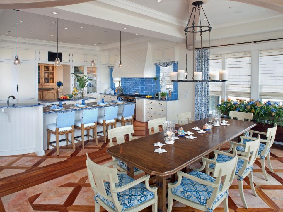 Coastal Kitchen And Dining Room Pictures | Hgtv In Coastal Dining Tables (Image 10 of 20)