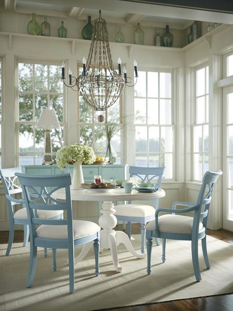 Coastal Living Cottage Dining Room – Tropical – Dining Room Within Coastal Dining Tables (Image 11 of 20)