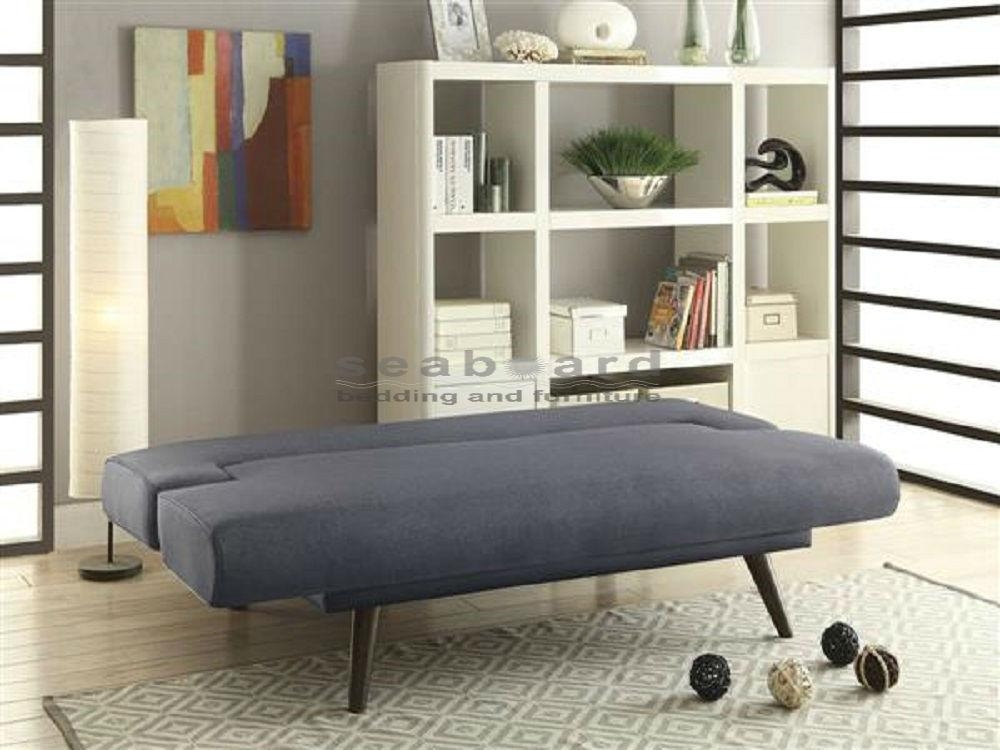 Coaster 550139 Minimalist Gray Sofa Bed Futon With Coaster Futon Sofa Beds (Image 7 of 20)
