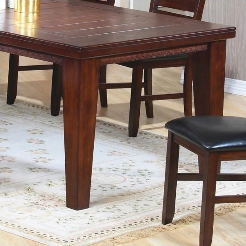 "Coaster Imperial Dining Table With 18"" Leaf Extension In Rustic Inside Imperial Dining Tables (Image 4 of 20)"