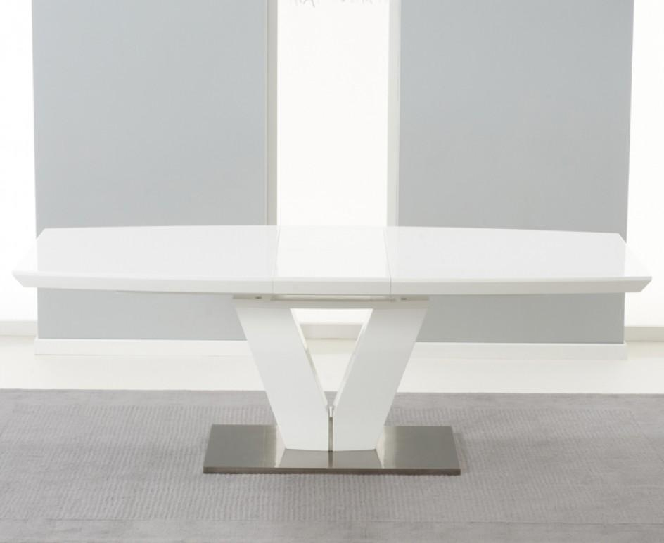 Collection In White Gloss Extending Dining Table Buy The Babington With Regard To Extending White Gloss Dining Tables (View 20 of 20)