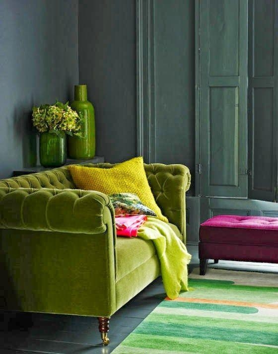 Color Trend: Chartreuse Teal And Magenta Within Chartreuse Sofas (View 15 of 20)