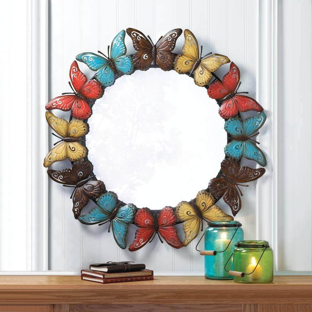 Colorful Butterfly Wall Mirror Wholesale At Koehler Home Decor Inside Butterfly Wall Mirrors (Image 4 of 20)