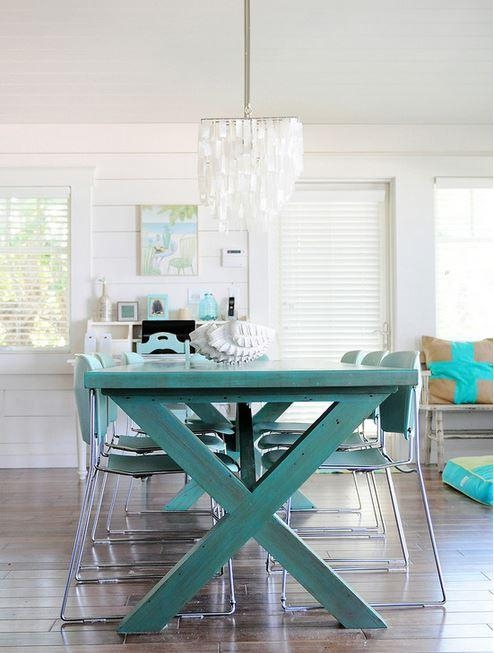 Colorful Painted Dining Table Inspiration Pertaining To Blue Dining Tables (Image 13 of 20)